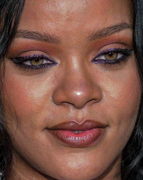 Rihanna Celebrity face close up