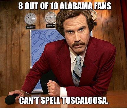funny 100 Alabama Memes