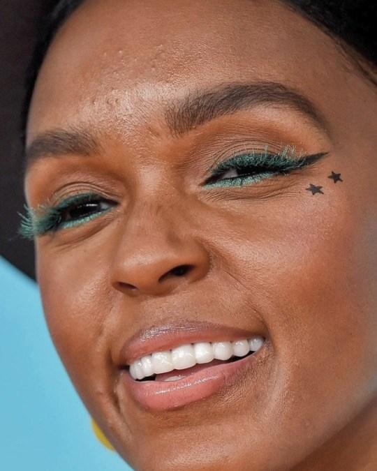 Janelle Monáe's Celebrity Face close up