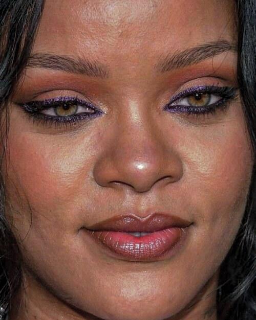 Rihanna Celebrity face close up