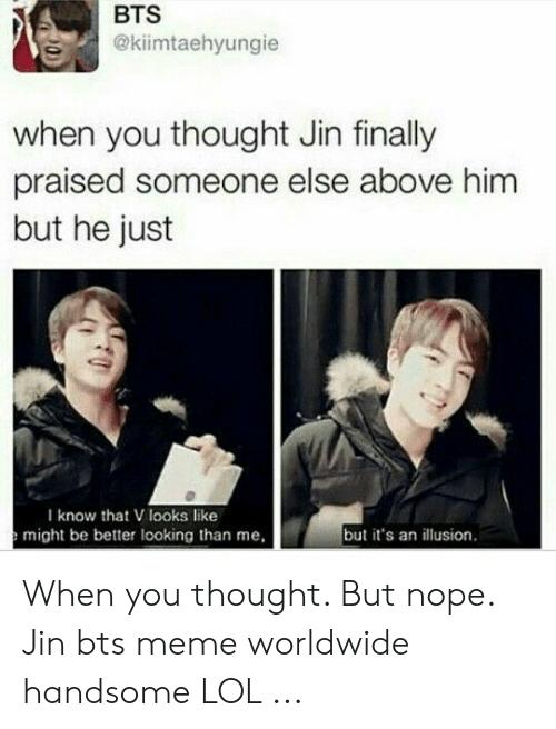Funny Bts memes Jin